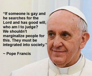 pope on homosexuality